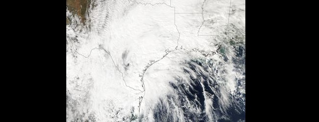 Remnants of Hurricane Patricia over Texas