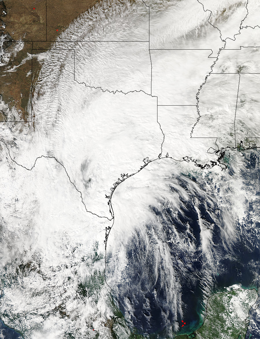 Remnants of Hurricane Patricia over Texas full image
