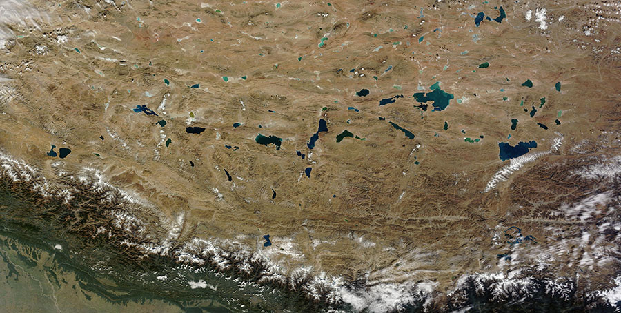 Lakes in the Qinghai-Tibet Plateau