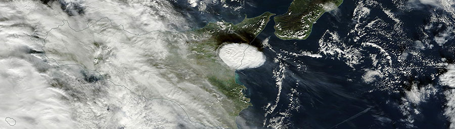 Ash Plume from Mount Etna, Sicily - feature page
