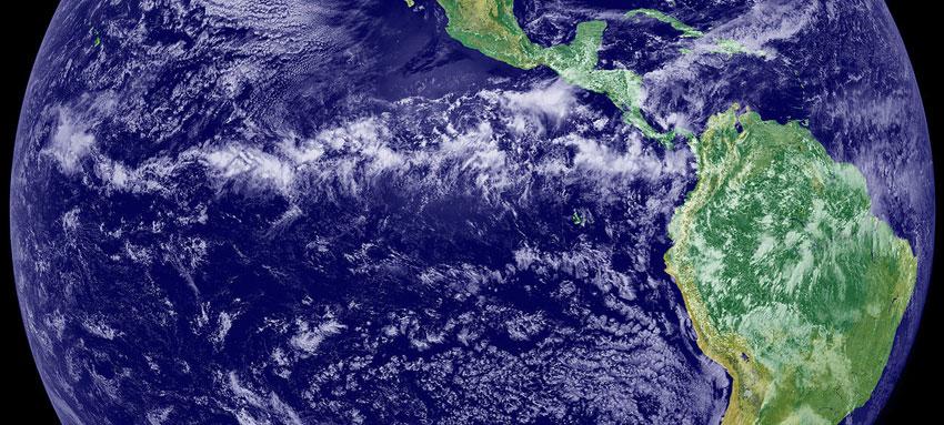 Satellite mosaic showing the tropical rainband