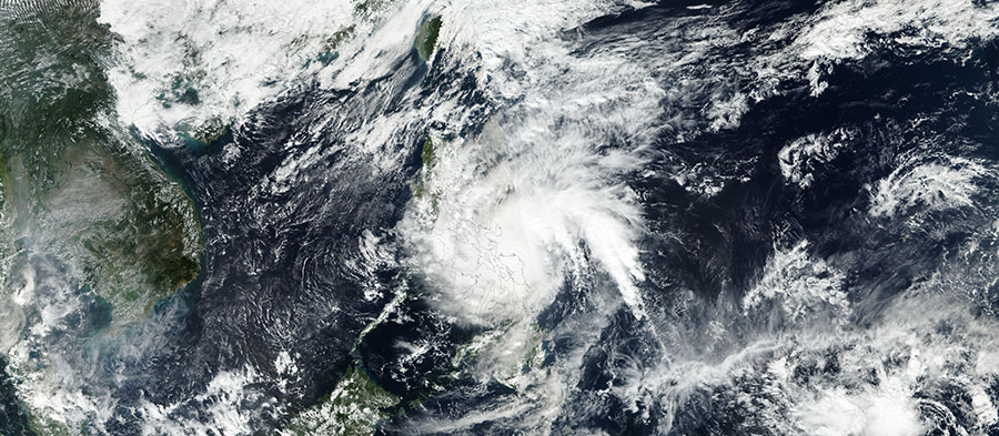 Typhoon Melor over the Philippines
