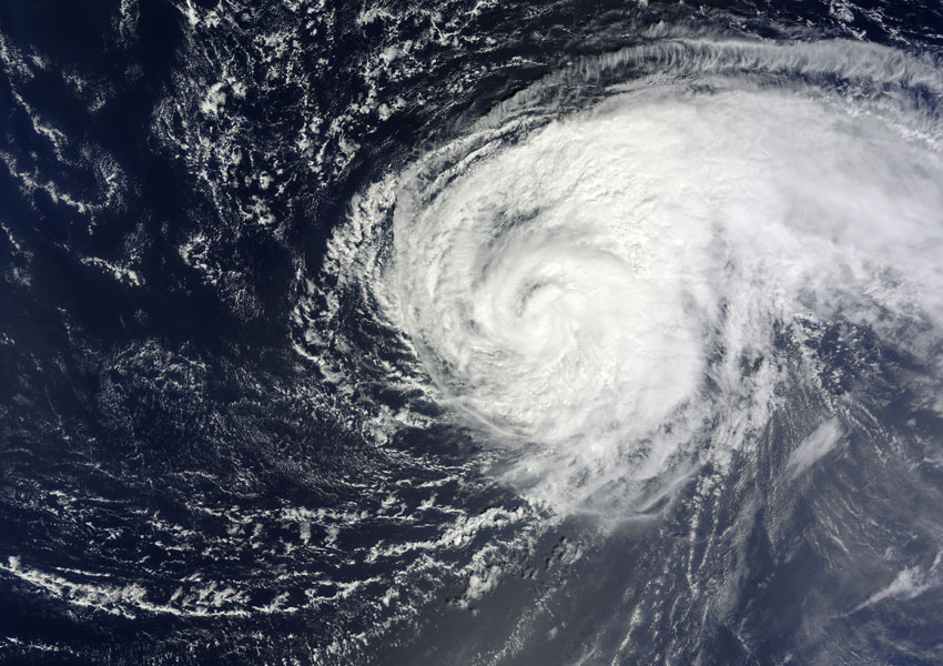 Satellite image of Hurricane Nadine