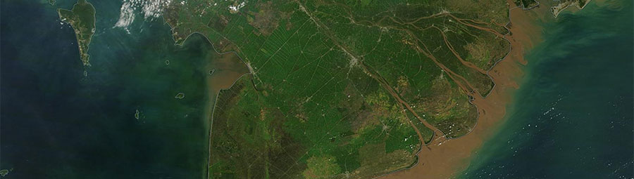 Agricultural fields in southern Vietnam - feature grid