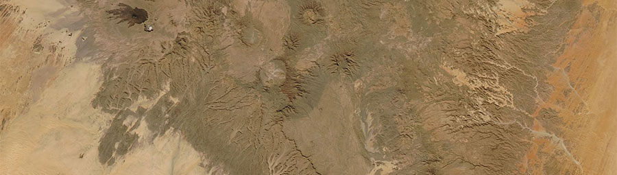 Tibesti Mountains, Chad - feature grid
