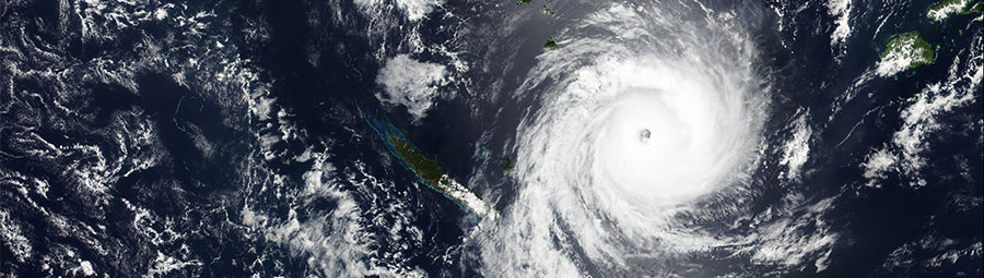 Tropical Cyclone Ula nears Vanuatu - feature grid