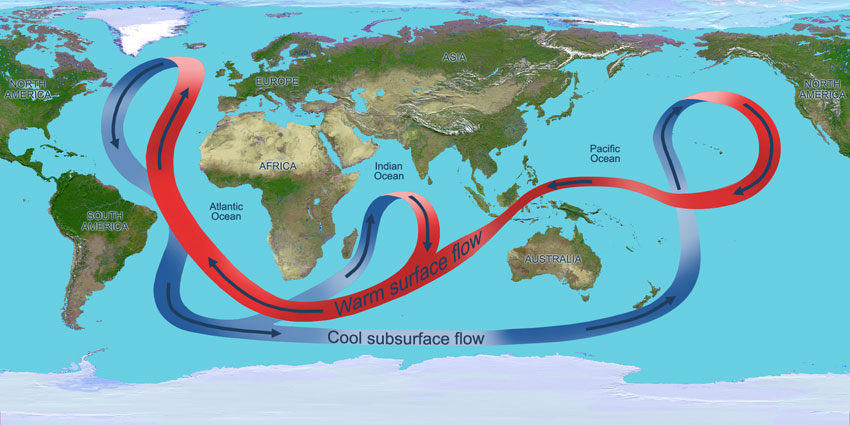 Data image showing ocean circulation