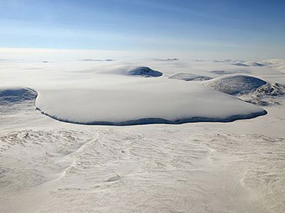 Photograph of Barnes Ice Cap on Baffin Island