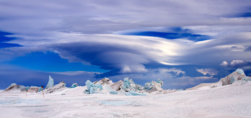 Photograph of a pressure ridge in Antarctic sea ice