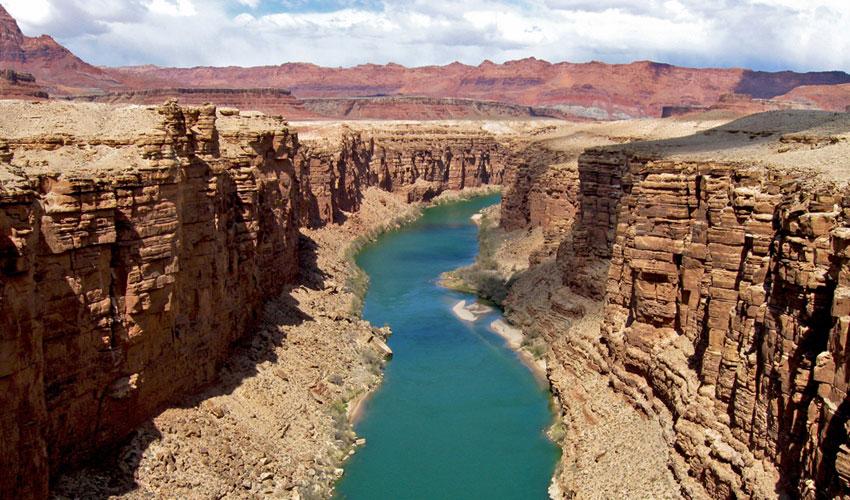 Photograph of the Colorado River as it flows through Arizona