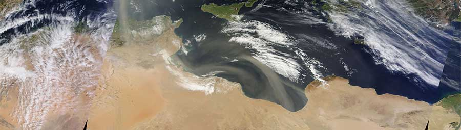 Dust Storm over the Mediterranean Sea - feature page