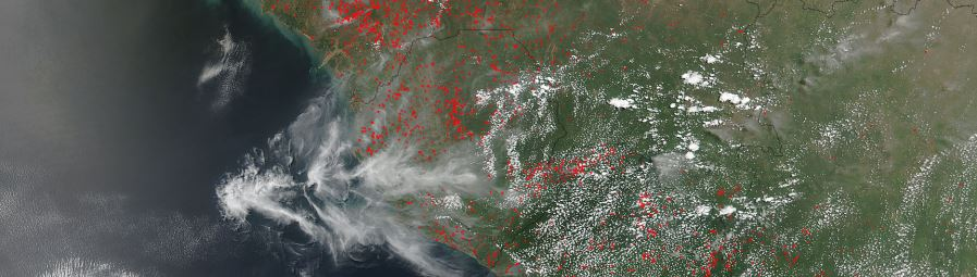Fires in West Africa - feature page