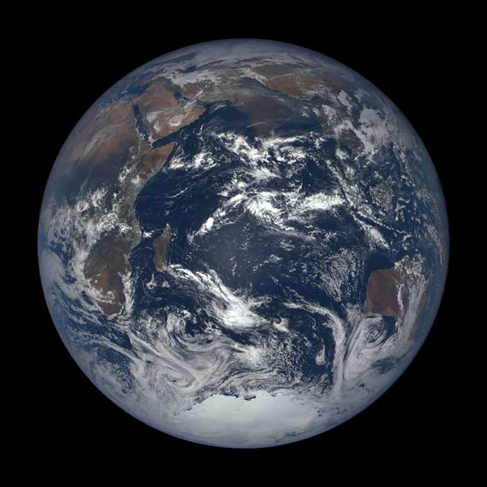 EPIC Full View of Earth from DISCOVR