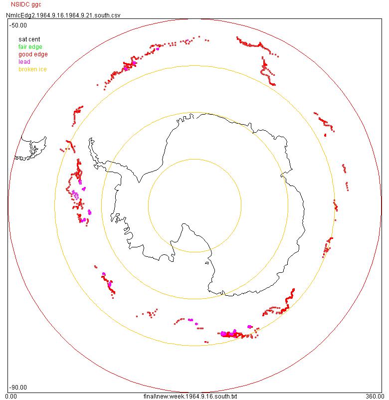 Antarctic ice edge image