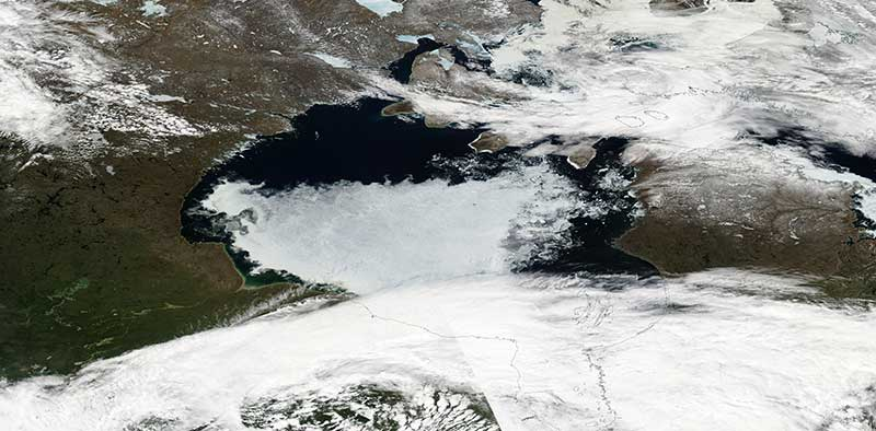 Ice in the Hudson Bay, Canada