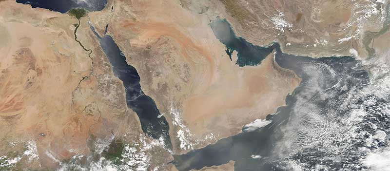Dust storms in the Middle East