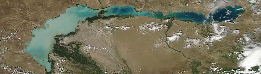 Lake Balkhash, Kazakhstan - feature grid