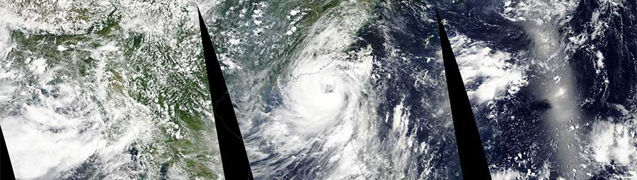 Typhoon Nida approaching Hong Kong - feature page