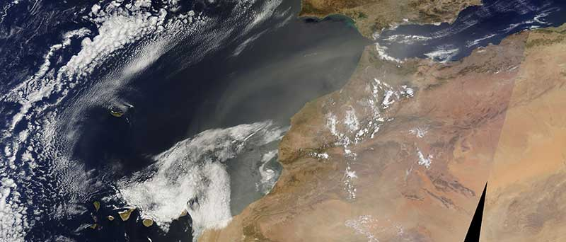 Dust Storm off the coast of Morocco