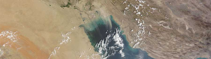 Dust storm Persian gulf 5 Sept 2016 Terra