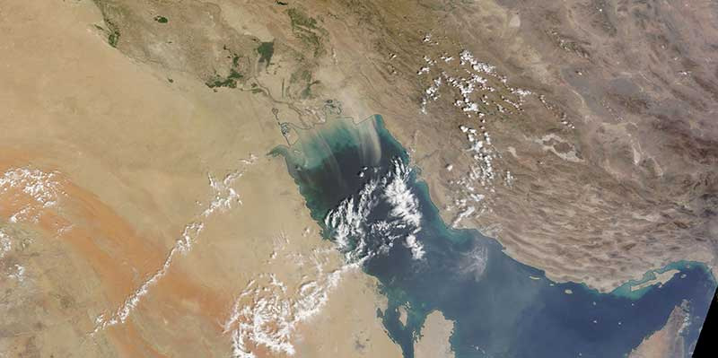 Dust Storm in the Persian Gulf