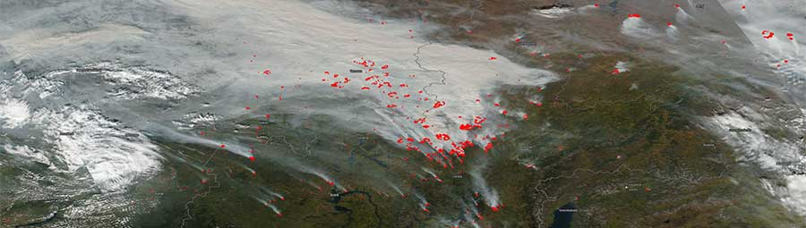 Fires continue in central Russia - feature page