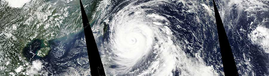 Typhoon Megi in the western Pacific Ocean - feature page