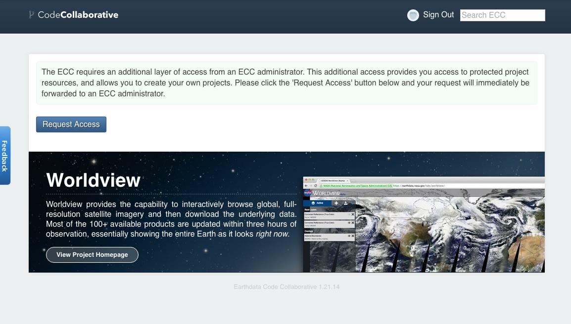 Requesting access to the Earthdata Code Collaborative (ECC)