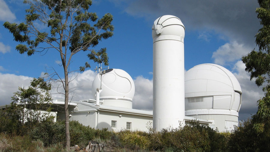 Photograph of the Mount Stromlo Satellite Laser Ranging Facility in Australia
