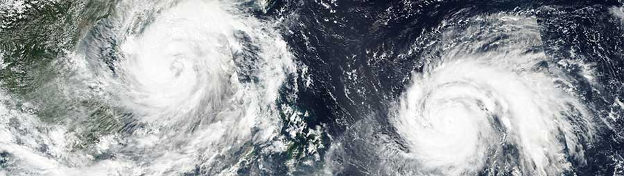 Typhoons Sarika and Haima in the Pacific Ocean - feature page