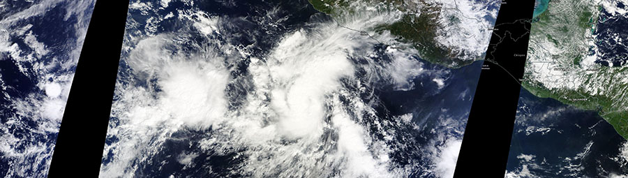 Tropical Storm Seymour in the Pacific Ocean near Mexico - feature page