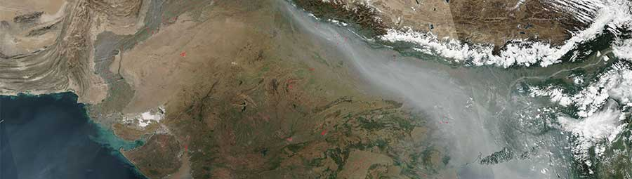 Smoke and fires in northwest India - feature page