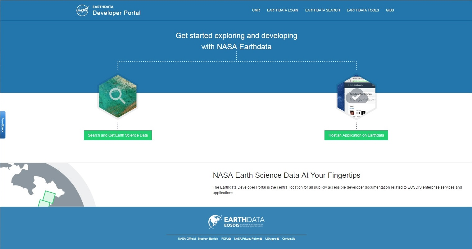 Earthdata Developer Portal