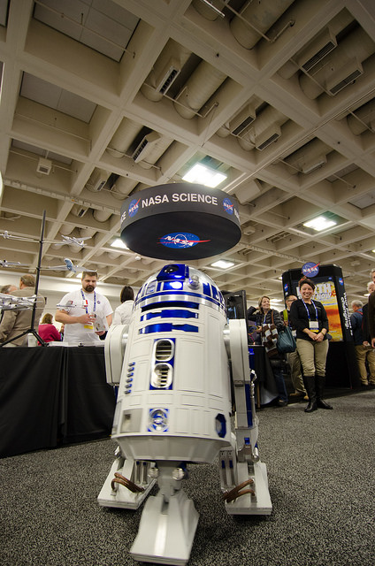 R2D2 at NASA Booth, 2015 AGU Fall Meeting