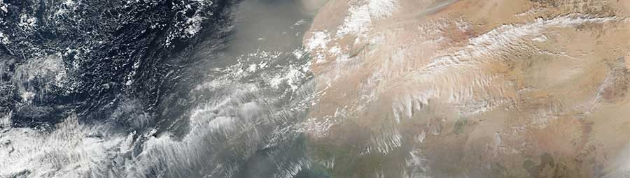 Dust storm off west africa 25 Dec 2016 SNPP