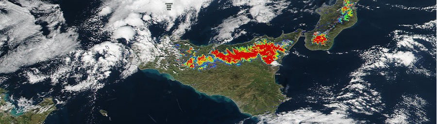 Sicily snow cover image