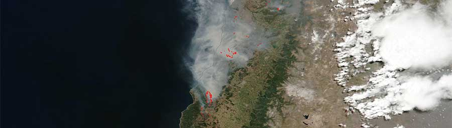 Fires in Chile - feature page
