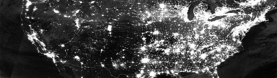 Nighttime lights over the US - feature page