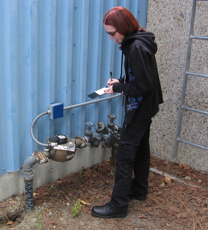 Katherine Pitts collecting data