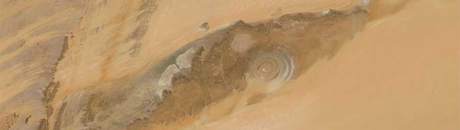 Richat structure Mauritania 12 Feb 2017 Aqua