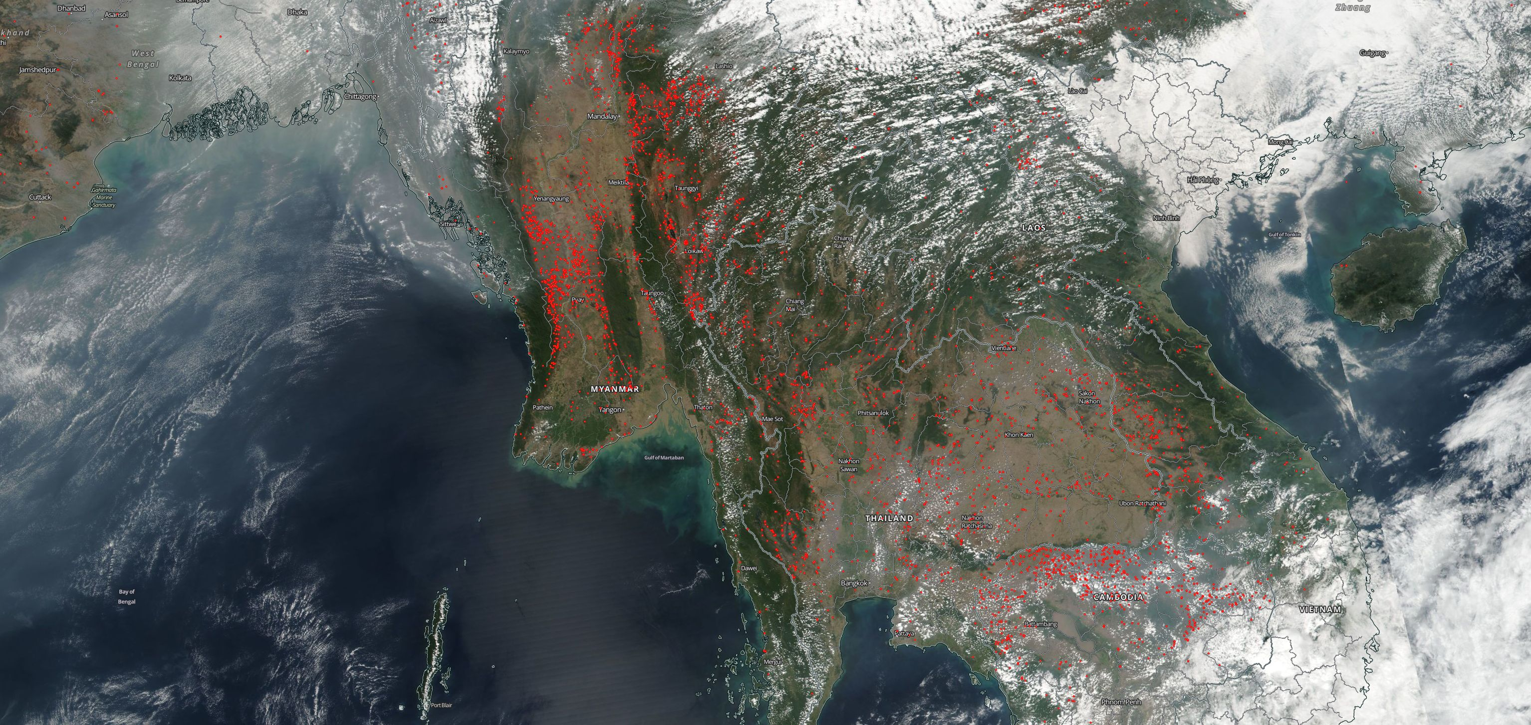 Fires in Indochina