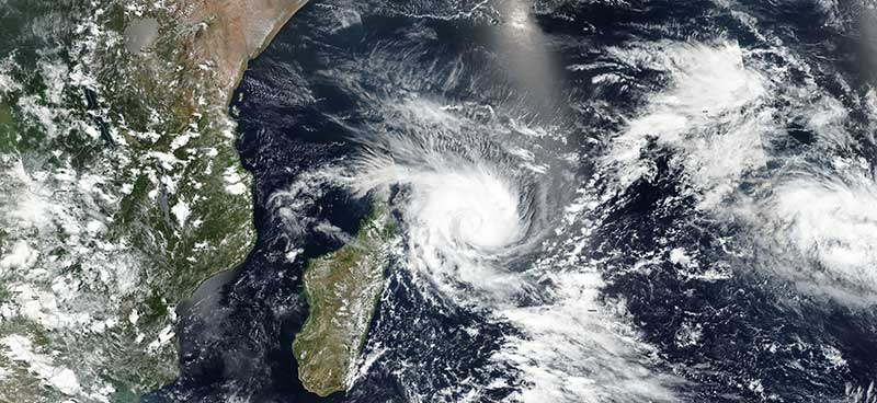 Tropical Cyclone Enawo approaches Madagascar