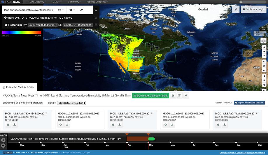 EDSC screenshot