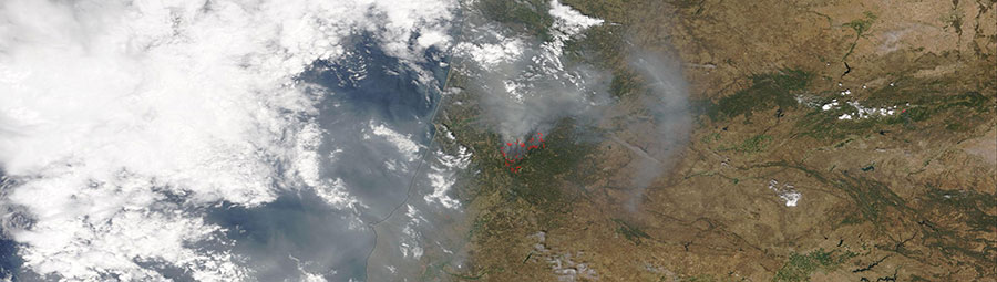 Wildfires in Central Portugal - feature grid