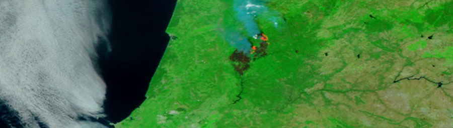 Central Portugal fire 20 June 2017 VIIRS 1
