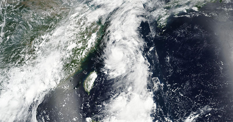 Tropical Storm Nanmadol in the western Pacific Ocean