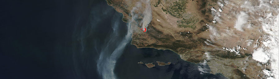 VIIRS/Suomi NPP image of the Alamo Fire, California on 8 July 2017