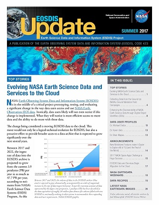 Cover image for EOSDIS Update-Summer 2017