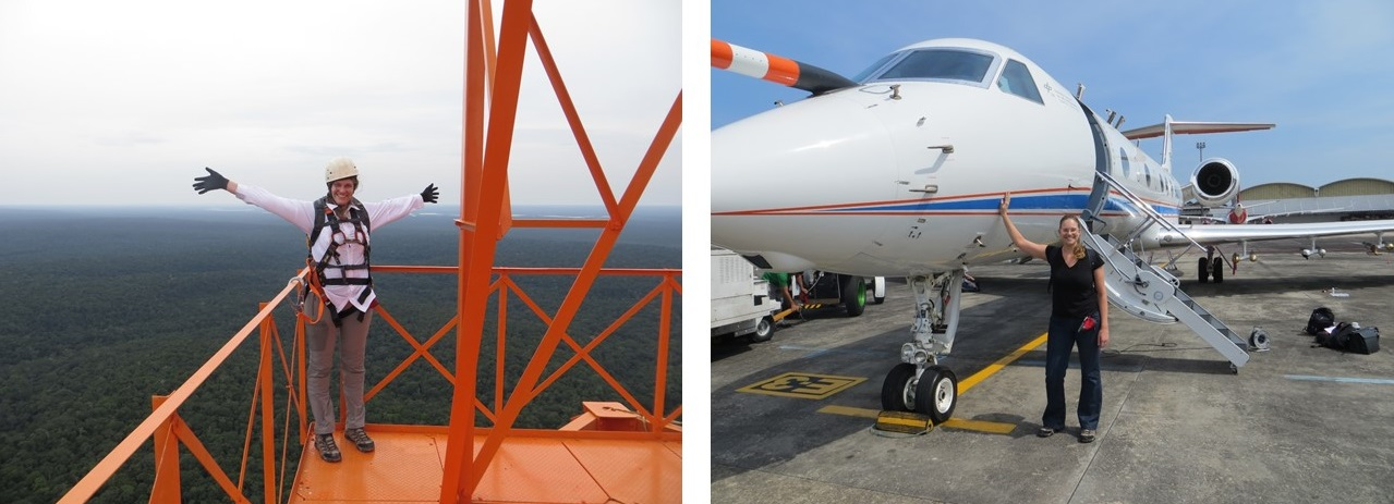 Images of ATTO tower and HALO aircraft