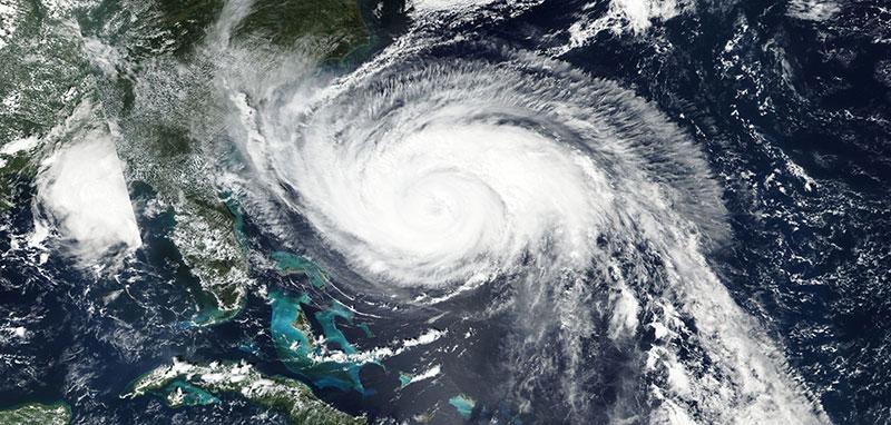 Hurricane Maria in the Atlantic Ocean, 24 September 2017 (VIIRS/SNPP)